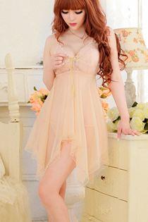 Đầm Ngủ Voan Lưới 0301 Vàng