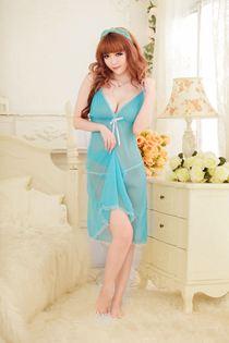 Váy Ngủ Dáng Dài Bigsize 0478 Xanh