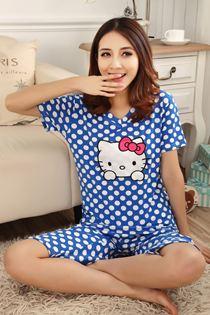 Đồ Mặc Nhà Hello Kitty Xanh Dương 0443