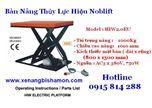 Bàn nâng thủy lực, bàn nâng tải trọng 1 tấn nâng cao 1 mét Model HIW2.0EU