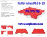 Pallet nhựa PL03LS loại một mặt kích thước 1200 x 1000 x 78 mm