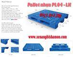 Pallet nhựa PL04LK kích thước 1200 x 1000 x 150, pallet chịu tải cao.