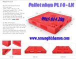Pallet nhựa VN16 - LK kích thước 1200 x 1200 x 150 mm, VN06-LK là pallet liền khối rất cứng, vững.
