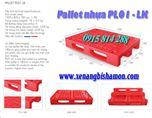 Pallet nhựa PL01LK kích thước 1200 x 800 x 180mm loại 1 mặt 4 đường nâng.