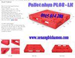 Pallet nhựa PL08-LK quy cách 1200 x 1000 x 145mm loại một mặt 4 đường nâng.