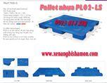 Pallet nhựa PL02LS mặt kín kích thước Dài 1200 x Rộng 1000 x Cao 78 mm