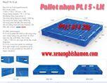 Pallet nhựa PL15LK là loại liền khối có độ cứng vững cao với kích thước 1100 x 1100 x 125mm