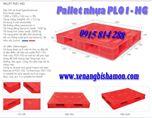 Pallet nhựa PL01-HG kích thước 1200 x 1000 x 145mm loại 2 mặt kín