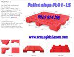 Pallet nhựa PL01LS một mặt 9 chân 4 đường nâng. Kích thước 1200 x 1000 x 150 mm