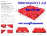 Pallet nhựa PL12LK kích thước 1200 x 1000 x 150mm, được cấu lõi thép bên trong nên chịu lực rất tốt, đặc biệt trên giá kệ.