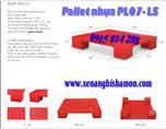 Pallet nhựa PL07LS kích thước 600 x 600 x 100mm