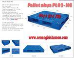 Pallet nhựa PL02HG kích thước 1200 x 1000 x 145mm loại 2 mặt dùng phổ biến trong kho lạnh.
