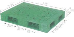 Pallet tải trọng lớn kích thước 1200 x 1000 x 150 mm