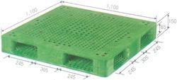 Pallet nhựa nhập khẩu kích thước 1100*1100*150mm