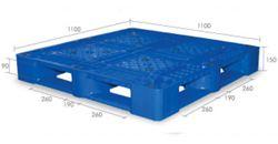 Pallet nhựa PL09LK 1100 x 1100 x 150mm