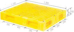 Pallet nhựa nhập khẩu GT4 1300*1100*150mm