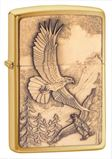Zippo Where Eagles Dare Brushed Brass