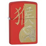Zippo Year Of The Monkey Red Matte