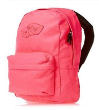 NEW VANS OFF THE WALL WOMENS BACKPACK OLD SKOOL REALM PINK NEON TRAVEL BAG