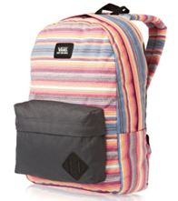 VANS OFF THE WALL REALM OLD SKOOL IL TWR WOMENS BACKPACK TRAVEL BAG GYM BAG