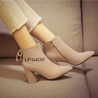 BOW BOOTS CREAM LP0003