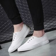 SLIP ON EYELETS WHITE LP0764