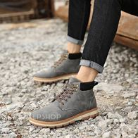 LEATHER BOOTS GREY LP2012