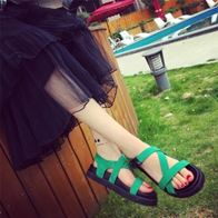 STRAPPY SANDALS NỮ GREEN LP5000