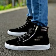 HIGH TOP ANKLE BOOTS BLACK LP2008