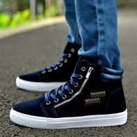 HIGH TOP ANKLE BOOTS DARK BLUE LP2009