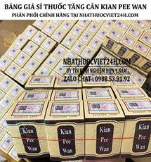BẢNG GIÁ SỈ THUỐC KIAN PEE WAN CHÍNH HÃNG