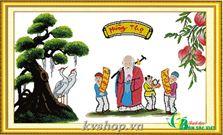 Tranh thêu chữ thập - nv011 - Tranh mừng thọ Chúc Thọ Ông