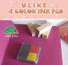 Hộp mực dấu 4 màu U like 4 ink pad 10g