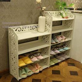 Kệ giầy dép hoa văn 4 tầng size to KG28