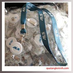 Dây đeo thẻ in nổi logo ALS Avivation Logistic kèm Yoyo
