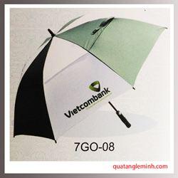 Ô dù quà tặng - ô golf 2 tầng Vietcombank