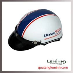 Mũ bảo hiểm quảng cáo - mũ bảo hiểm nửa đầu không kính 001