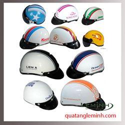 Mũ bảo hiểm quảng cáo - mũ bảo hiểm nửa đầu không kính 032