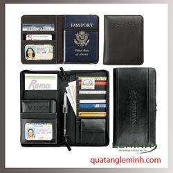 Bao hộ chiếu , ví du lịch chất liệu da, giả da 011