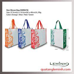 Túi vải không dệt - túi hộp quai xách 022