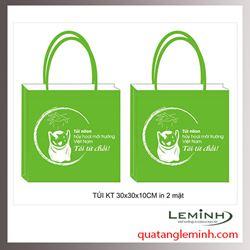 Túi vải không dệt - túi hộp quai xách 021