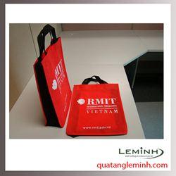 Túi vải không dệt - túi hộp quai xách 018