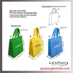 Túi vải không dệt - túi hộp quai xách 013