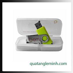 USB quà tặng - Hộp USB - Hộp nhựa trắng hình lá