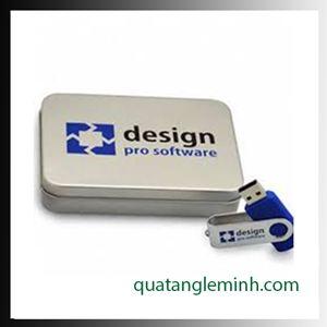 USB quà tặng - Hộp USB - Hộp thiếc không kính to