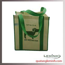 Túi vải không dệt - túi vải quai liền thân 009