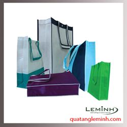 Túi vải không dệt - túi vải quai liền thân 017