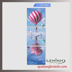 Bộ tranh ghép đồng hồ 3 tấm vuông 30x30cm 006