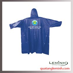 Áo mưa quà tặng - Áo mưa poncho cài cạnh không kính, 1 màu, bảo việt