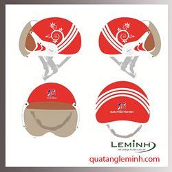 Mũ bảo hiểm nửa đầu có kính - Dược Phẩm Tâm Bình Mẫu 3